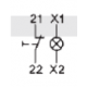 Styk pomocniczy  1NC+gniazdo