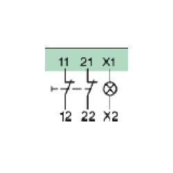 Styki pomocnicze 2NC+gniazdo