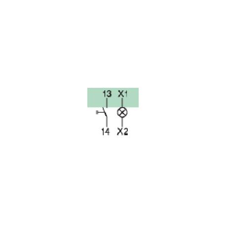 Styk pomocniczy 1NO+gniazdo