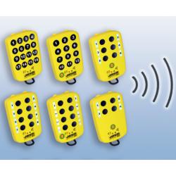 Wielofunkcyjny nadajnik radiowy ORION z 6 + 1 przyciskami, zgodny z charakterystyką opisaną w karcie technicznej E780