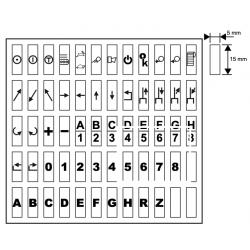 zestaw 45 czarno-białych etykiet ORION
