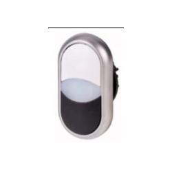 Podwójny przycisk biało-czarny