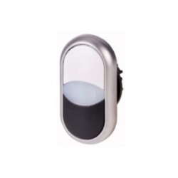Podwójny przycisk biały - 1/czarny - 0