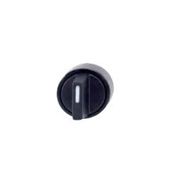 Pokrętło obrotowe, I-0-II stabilny, czarne
